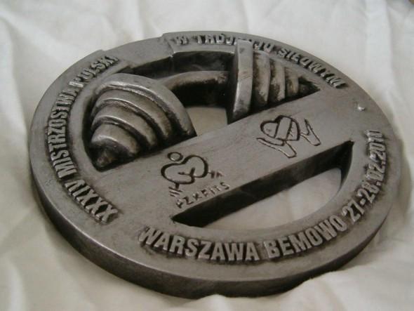 Medal z rzywicy poliestrowej Powerlifting