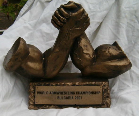 Statuetka armwrestling