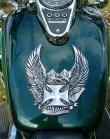rzeźbiony orzeł, motocykle, cruisery